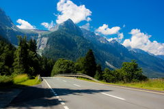 Austrian road in Alps Royalty Free Stock Photos