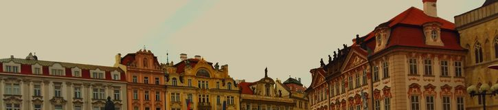 Austrian rooftops. And sky Stock Image