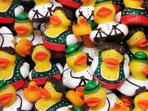 Austrian Rubber Ducks. Bavarian style Stock Photos