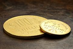 Austrian gold coins Royalty Free Stock Photo