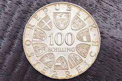100 Austrian Shillings Stock Photo