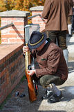 Austrian shooters in national costumes in the city of Graz, Austria. Royalty Free Stock Images