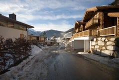 An Austrian Ski Resort Scene Stock Photos
