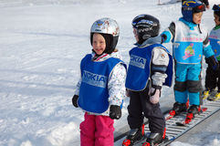 Austrian Ski school Stock Photo
