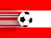 Austrian soccer flag Royalty Free Stock Photo