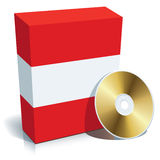 Austrian software box and CD Royalty Free Stock Photos
