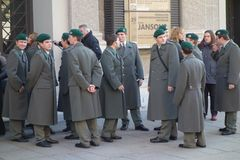 Austrian soldiers Stock Photography