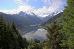 Austrian Speicher Durlassboden from Gerlos Pass Stock Photography