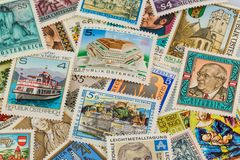 Austrian stamps Royalty Free Stock Photography