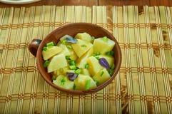 Austrian-Style Potato Salad. Erdapfelsalat , close up stock photography