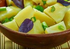 Austrian-Style Potato Salad. Erdapfelsalat , close up royalty free stock photo