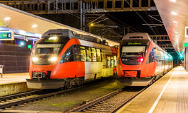 Austrian suburban trains in Feldkirch Stock Images