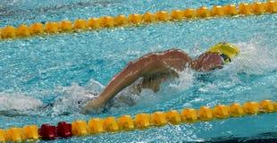 Austrian swimmer Sebastian STEFFAN AUT. Hong Kong, China - Oct 29, 2016. Austrian swimmer Sebastian STEFFAN AUT swiming freestyle. FINA Swimming World Cup Royalty Free Stock Photos