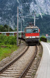 Austrian Train in Mountains Stock Photography