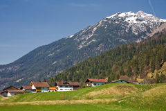 Austrian village. Photo of an Austrian village in the Alps Royalty Free Stock Photography