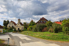 Austrian village Perndorf in the fall. Styria, Austria. Austrian village Perndorf in the fall. Municipality Puch bei Weiz , federal state Styria, Austria royalty free stock image