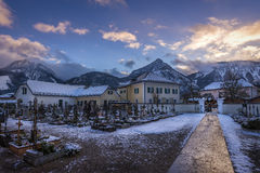 Austrian Village in Winter Royalty Free Stock Photos