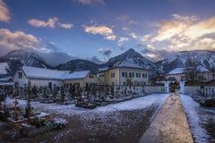 Austrian Village in Winter Royalty Free Stock Photos