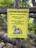 Austrian warning sign royalty free stock photos