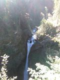 Austrian waterfall. Beautyful waterfall in austria Stock Image
