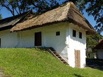Austrian wine cellars thatched with straw Royalty Free Stock Images
