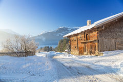 Austrian Winter. Alps near Kitzbuehel, Hollersbach, Resterhoehe Royalty Free Stock Photos