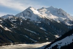 An Austrian Winter Scene Stock Photography