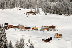 Austrian Winter Scene Stock Photos