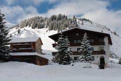 Austrian Winter Scene Royalty Free Stock Images
