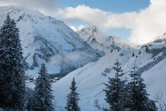 Austrian Winter Scene Stock Photography
