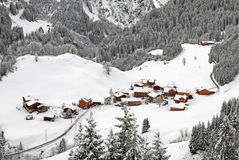 Austrian Winter Scene Stock Photo