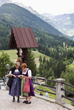 Austrian women in folkloristic costumes, Maria Luggau Stock Image