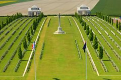 The austalian cemetery of the fisrt worldwar at villers bretonneux in picardy. The austrlian military cemetery at villers bretonneux in picardy. An historic royalty free stock image