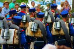 Austro-Πρώσοι πολεμικοί στρατιώτες στο θέαμα Στοκ Εικόνες