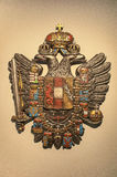 Austro-hungarian coat of arms. Habsburg dynasty coat of arms, metal relief Stock Image