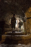 Austro-Hungarian soldiers of the World War one in the cavern Stock Images