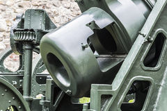 Austro Hungarian WWI Siege Howitzer 305 mm. Mörser model 1911 - breech-block detail Royalty Free Stock Photos