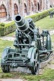 1911 Austro WWI Węgierski Oblężniczy granatnik 305 mm Mörser Zdjęcie Royalty Free