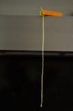Austrocknender Kerzendocht - Handwerk leuchtet Reihe durch Stockbild