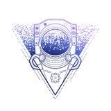 Austronaut gráfico no triângulo Imagem de Stock Royalty Free