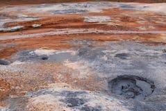 Austurengjar. Área de Geotermal cerca de Krysuvik, Islandia imagenes de archivo