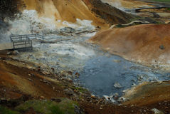 Austurengjar. Area di Geotermal vicino a Krysuvik, Islanda Fotografia Stock Libera da Diritti
