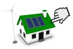 Auswählen eines grünen Hauses Lizenzfreie Stockfotos