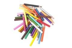 Auswahl der farbigen Bleistifte Stockfoto