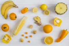 Auswahl der gelben Frucht Lizenzfreie Stockbilder