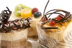 Auswahl der Kuchen Stockfoto
