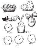 Auswahl der Ostern-Zeichnungen Lizenzfreie Stockfotos