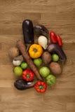 Auswahl des Frischgemüses für das Kochen Lizenzfreie Stockfotos