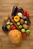 Auswahl des Frischgemüses für das Kochen Stockfotografie