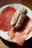 Auswahl des kalten Fleisches Lizenzfreies Stockfoto